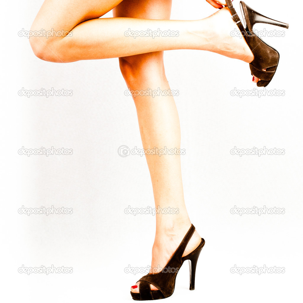Beautiful legs with one knee bending.  — 图库照片 #10744485