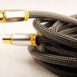 UHF coaxial cable. Closeup view. — Stock Photo