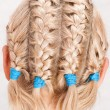 Girl with braids — Stock Photo
