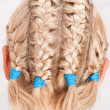 Stock Photo: Girl with braids