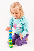 Little girl playing — Stock Photo