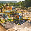 Stock Photo: Sorting sand belts at gravel pit