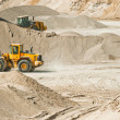 Stock Photo: Working machines at gravel pit