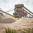 Mining belts are sorting gravel - Stock Photo