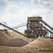 Stock Photo: Mining belts are sorting sand