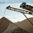 Stock Photo: Conveyor on site at gravel pit