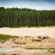 Stock Photo: Working day at gravel pit