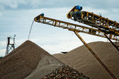 Conveyor on site at gravel pit — Stock Photo