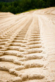 Trace on sand — Stock Photo
