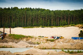 Working day at gravel pit — Stock Photo