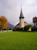 Spiez Castle in Spiez, Switzerland. — Stock Photo
