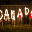 Canada sparklers in time lapse photography — Stock Photo #11763977