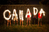 Canada sparklers in time lapse photography — 图库照片