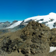 Panorama of Monte Rosa - Stock Photo