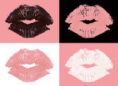 Graphic lipstick kisses — Stock Photo