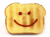 Bread with happy face — Stock Photo
