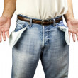 Stock Photo: Mwith empty pockets