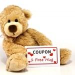 Постер, плакат: Teddy bear with hug coupon