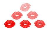 Kisses in pyramid shape — Stock Photo