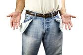 Homem com os bolsos vazios — Foto Stock