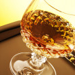 Whiskey in stem glass — Stock Photo
