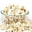 Stock Photo: Popcorn in glass bowl