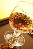 Whisky en tallo de vidrio — Foto de Stock