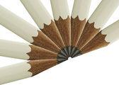 White pencil fan — Stock Photo
