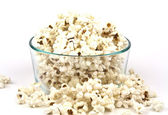 Popcorn in glass bowl — Stock Photo