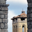Storks stone tower — Stock Photo