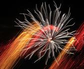 Feuerwerk Hintergrund — Stock Photo