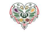 Vegetable heart — Stock Vector