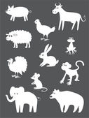 Abstract animals — Vector de stock