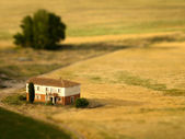 Country house tilt shifted — Stock Photo