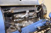 Vintage race car engine — Stock Photo