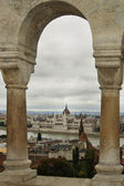 Parliament of Hungary seen from fishermen´s bastion — Stock Photo