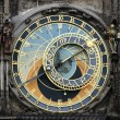 Foto Stock: Astronomical clock close up in Prague