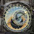 Foto de Stock  : Astronomical clock close up in Prague
