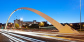Las Ventas Bridge and Bullring (Madrid) at dusk — Stock Photo