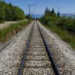 Stock Photo: Railway in mountains