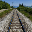 Railway in mountains — Stock Photo