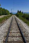 Railway in mountains — Foto Stock