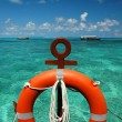 Stock Photo: Beach ring-buoy
