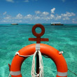 Beach ring-buoy - Stock Photo