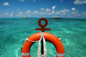 Beach ring-buoy — Stock Photo