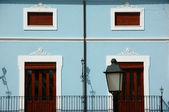 A light blue wall — Stock Photo