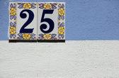 A number plate — Foto de Stock