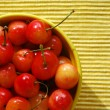 Stock Photo: Bowl of cherry