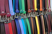 Belts on the market — Zdjęcie stockowe
