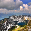 Small lake in swiss mount — Stock Photo